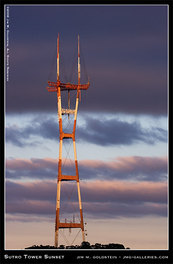 Sutro Tower Sunset photo by Jim M. Goldstein