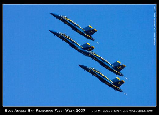Blue Angels, San Francisco Fleet Week 2007, photo by Jim M. Goldstein