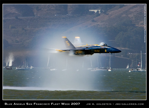 Blue Angels, San Francisco Fleet Week 2007, photo by Jim M. Goldstein