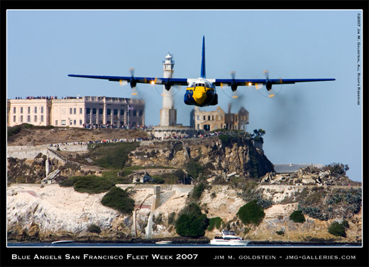 Blue Angels, Fat Albert, San Francisco Fleet Week 2007, photo by Jim M. Goldstein