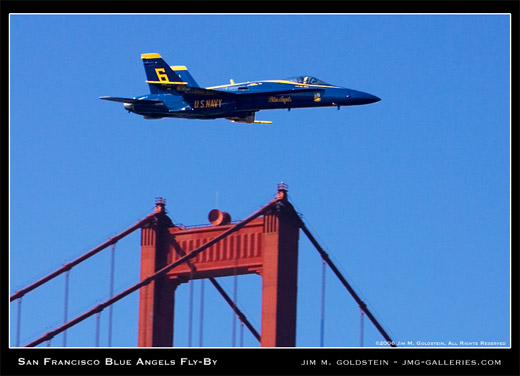 San Francisco Blue Angels Fly-By photo by Jim M. Goldstein