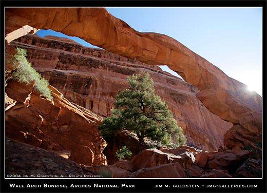 Wall Arch Sunrise, Arches National Park landscape photo by Jim M. Goldstein