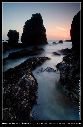 Rodeo Beach Sunset landscape photo by Jim M. Goldstein, seascape