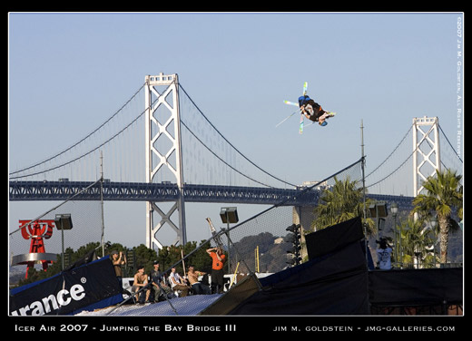 Jumping the Bay Bridge - Catching Big Air at Icer Air 2007 sports photo by Jim M. Goldstein