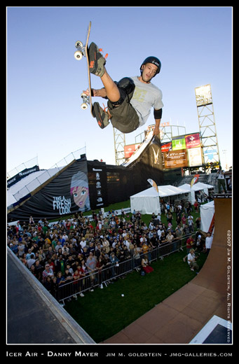 Danny Mayer catches big air at Icer Air 2007 sports photo by Jim M. Goldstein