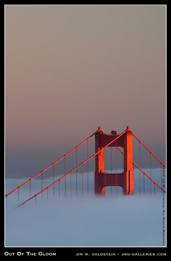 Out of the Gloom: Golden Gate Bridge and Fog