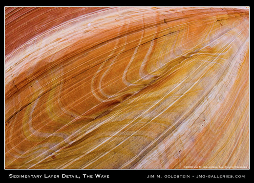 Sedimentary Layer Detail, The Wave