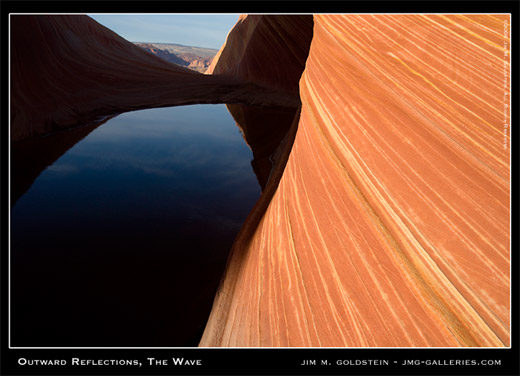Outward Reflection, The Wave photographed by Jim M. Goldstein