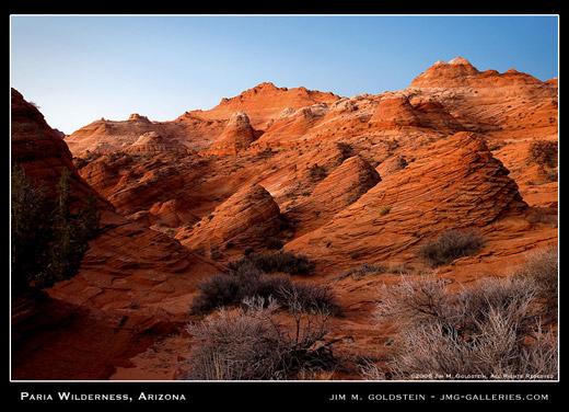 Paria Wilderness landscape photo by Jim M. Goldstein