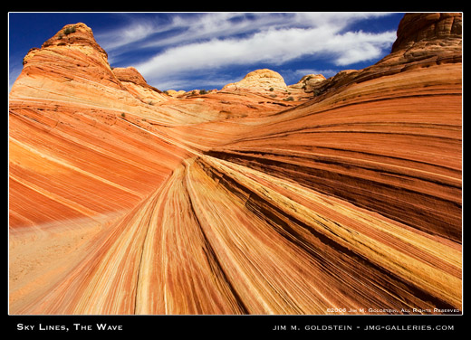 Sky Lines, The Wave landscape photograph by Jim M. Goldstein