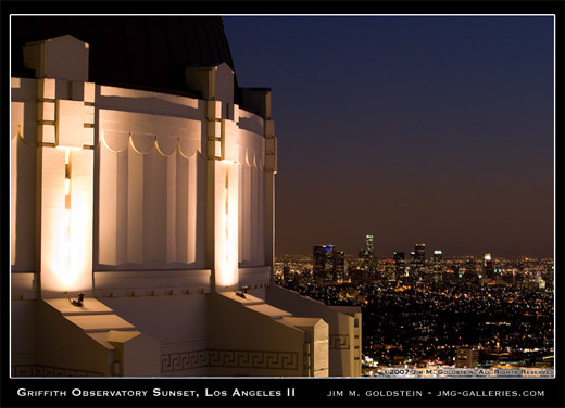 Griffith Observatory Sunset, Los Angeles II travel photo by Jim M. Goldstein
