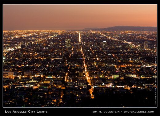 Los Angeles City Lights photo by Jim M. Goldstein