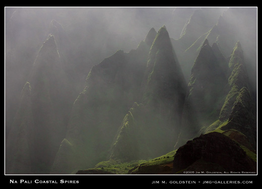 Ka'anapali Coastal Spires landscape photograph by Jim M. Goldstein