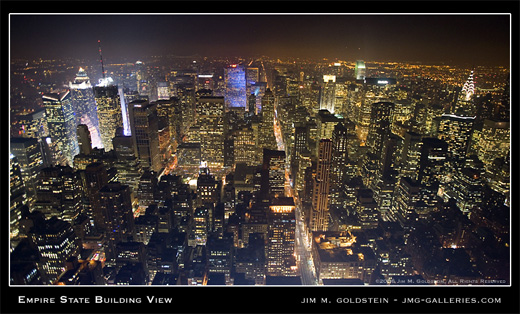 Empire State Building View photographed by Jim M. Goldstein
