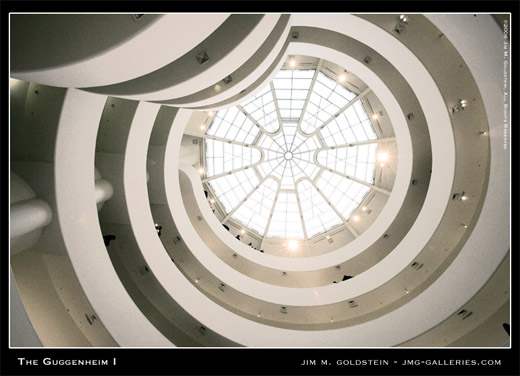 Guggenheim Museum Interior photographed by Jim M. Goldstein