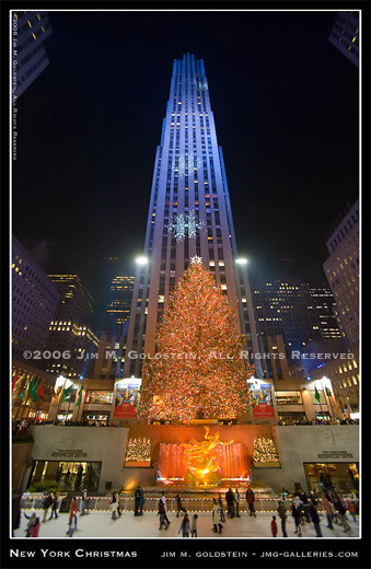 New  York Christmas photographed by Jim M. Goldstein