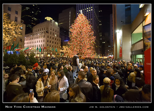 New York City Christmas Madness photographed by Jim M. Goldstein