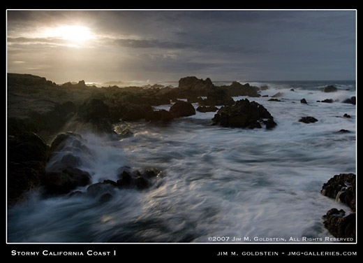 Stormy California Coast I seascape by Jim M. Goldstein