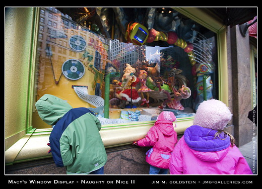 Macy's Christmas Window Display - Naughty or Nice photo by Jim M. Goldstein