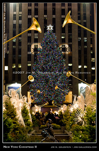 New York Christmas II - Rockefeller Center Christmas Tree photo by Jim M. Goldstein