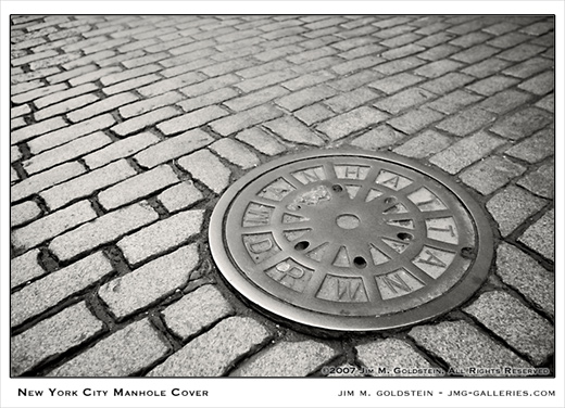 New York City Manhole Cover photo by Jim M. Goldstein