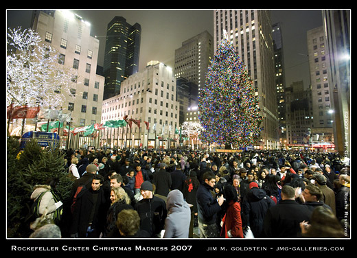 Rockefeller Center Christmas Madness 2007 photo by Jim M. Goldstein