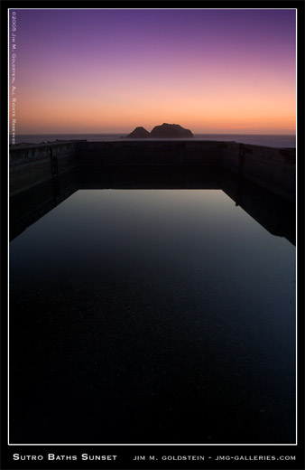 Sutro Baths Sunset - a San Francisco landscape by Jim M. Goldstein