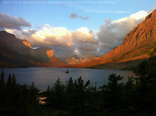 Sunrise at Wild Goose Island, Glacier National Park - via my iPhone