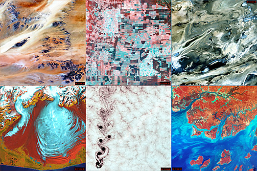 Abstract Satellite Photos fo Earth