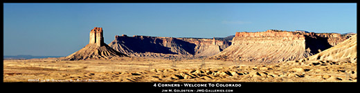 Four Corners Panoramic Landscape Photo by Jim M. Goldstein