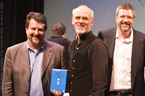 John Knoll, Russell Brown and Tom Knoll at the 20th Anniversary Celebration of Adobe Photoshop