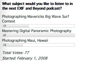 EXIF and Beyond Podcast Poll Episode 15 Results