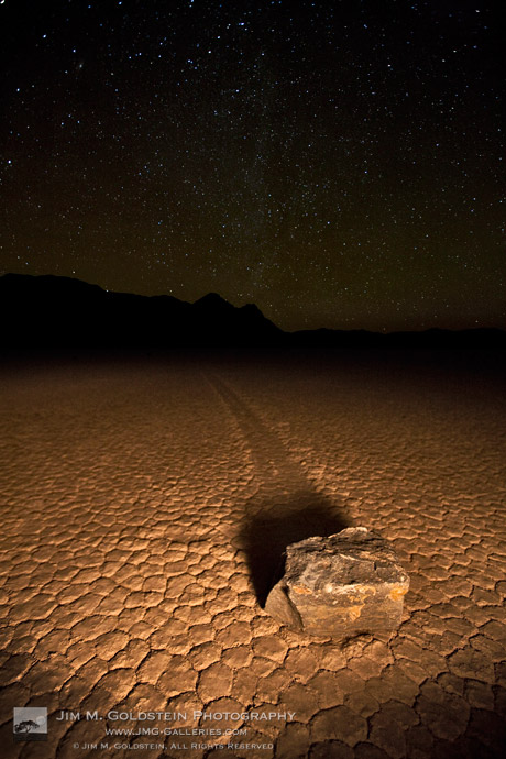 Racetrack by Starlight - Death Valley National Park, California
