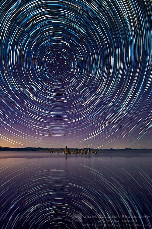 Mono Lake Star Trails - Mono Lake Tufa State Natural Reserve, California