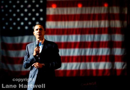 Senator Barack Obama, San Francisco California by Lane Hartwell