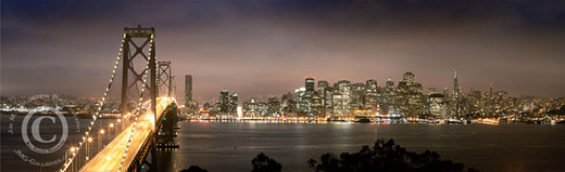 Re-emerging From The Storm - Bay Bridge and Downtown San Francisco at Night