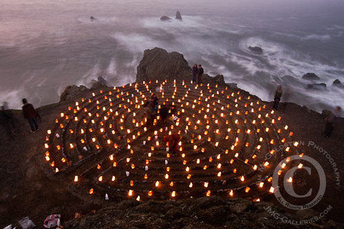 San Francisco Labyrinth Luminaries - Travel Photography by Jim M. Goldstein