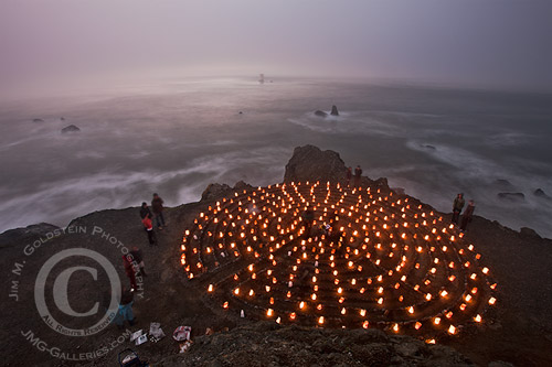 Lands End Labyrinth Luminaries