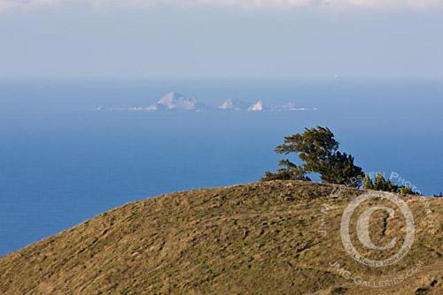 Farallon Islands, California as seen from the Marin Headlands