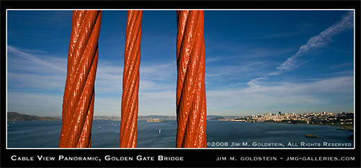Cable View Panoramic, Golden Gate Bridge