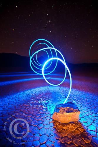 Racetrack Light Lasso - Death Valley National Park, California