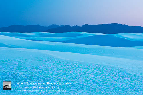 Dusk at White Sands National Monument, New Mexico