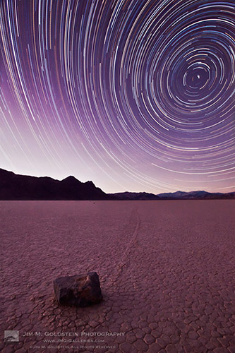 Racetrack Star Trails - Fine Art Photography by Jim M. Goldstein