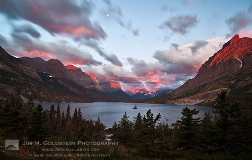 Stormy Sunrise, Glacier National Park