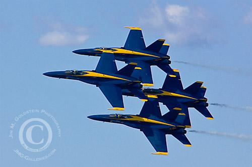Blue Angels in Formation Fleet Week 2008