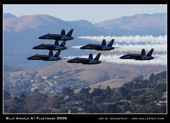 Blue Angels Flyby during Fleetweek 2005 in San Francisco