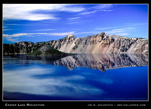 Crater Lake Reflection landscape photo by Jim M. Goldstein