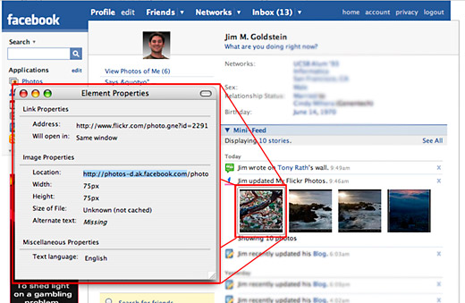 Source Location of Images on Facebook