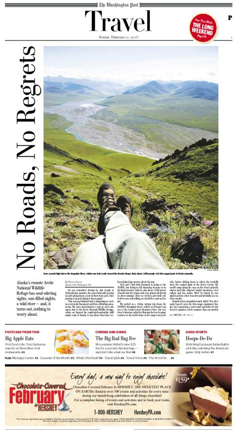 Washington Post Sunday Travel Section - Arctic Refuge photo by Jim M. Goldstein