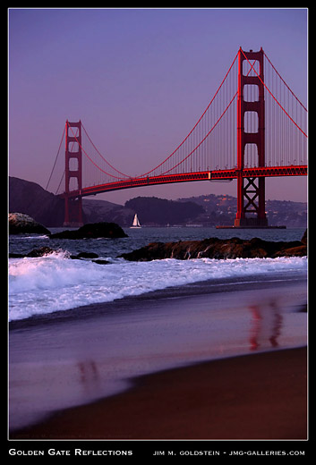 Golden Gate Reflections landscape photo by Jim M. Goldstein